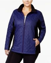 Ideology Plus Size Quilted Jacket, Only at Macy's