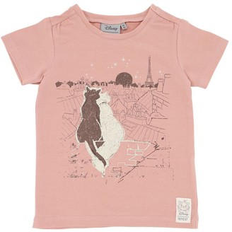 Wheat Aristocats Print Organic Cotton T-Shirt