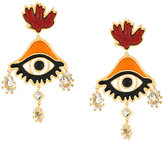 DSQUARED2 oversized eye earrings
