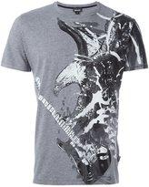 Just Cavalli guitar eagle print T-shirt