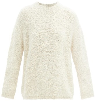 LAUREN MANOOGIAN Curved-sleeve Alpaca And Wool-blend Boucle Sweater - White