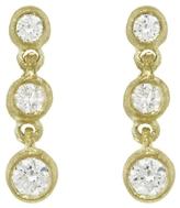 Tate Round Diamond Circle Drop Stud Earrings