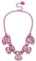 Betsey Johnson Harlem Crystal Frontal Necklace