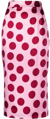 Dolce & Gabbana Polka Dot Pencil Skirt