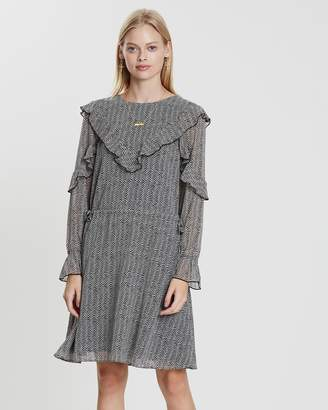 Maison Scotch Drapey Ruffle Dress