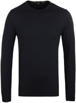 Boss Fines-1 Navy Crew Neck Knit Sweater