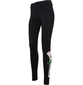 adidas Womens Work In Progress Floral Leggings Black