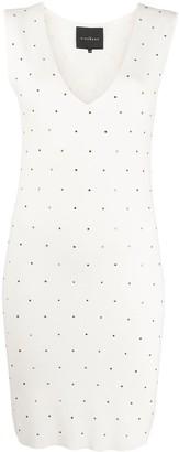 John Richmond sleeveless studded mini dress