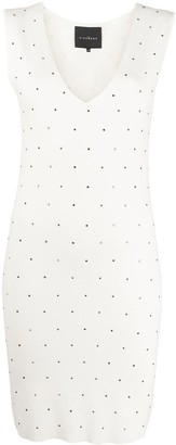 John Richmond Sleeveless Studded Mini Dress