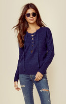 27 Miles Malibu Cashmere Olympia Lace Up Sweater