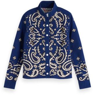 Maison Scotch Bandana Print Workwear Cotton Jacket - x-small