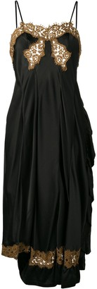 Giacobino Low Back Lace Slip Dress