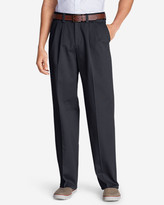 Eddie Bauer Wrinkle-Free Relaxed Fit Comfort Waist Causal Performance Chino Pants