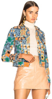 Acne Studios Chea Embroidered Jacket in Blue,Floral.
