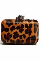 House of Harlow 1960 Orlina Clutch in Leopard Pony