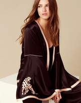 Agent Provocateur Selene Panther Pyjama Jacket Black