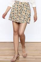 Motel Rocks Daisy Button Front Skirt