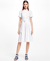 Brooks Brothers Cotton Sateen Shirt Dress