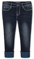 Vigoss Cropped Denim Jeans with Color Cuffs - Girls 4-16