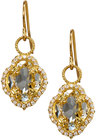 judefrances jewelry 18k white topaz diamond clover drop earrings