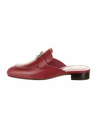 Hermes Trocadero H Logo Mules w/ Tags Red