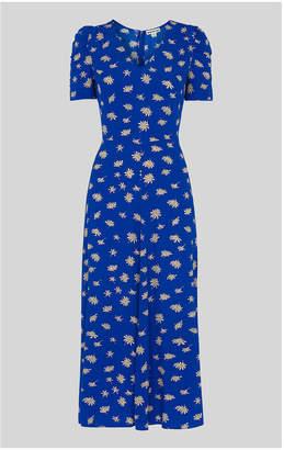 Whistles Scattered Daisy Midi Dress