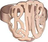 14K Rose Gold-Plated Personalized Curved Monogram Ring