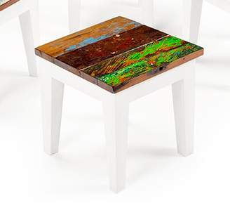 Eco Chic EcoChic Lifestyles Rock-a-Bye Reclaimed Wood Side Table EcoChic Lifestyles