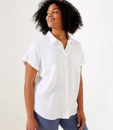LOFT Plus Button Down Tunic Shirt