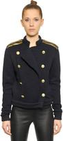 Pierre Balmain Wool Blend Jersey Jacket