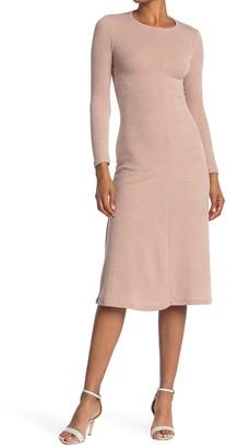 Velvet Torch Ribbed Back Cutout Midi Dress