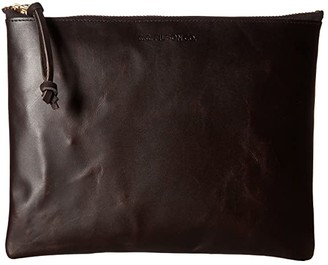 Filson Large Leather Pouch (Brown) Handbags
