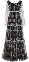 Erdem Deborah embroidered silk maxi dress