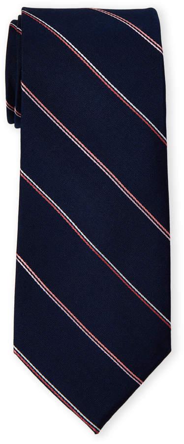 Calvin Klein Double Pinstripe Silk Tie