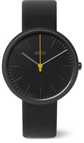 Braun Bn017 Ceramic And Leather Watch - Black