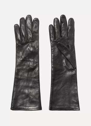Agnelle Leather Gloves - Black