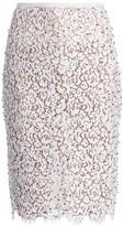 Michael Kors Embellished Lace Pencil Skirt