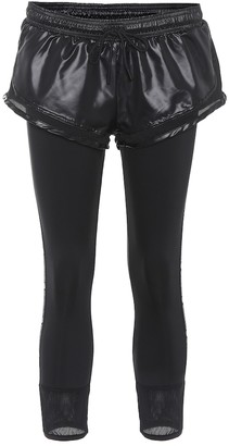 adidas by Stella McCartney Essential shorts over tights