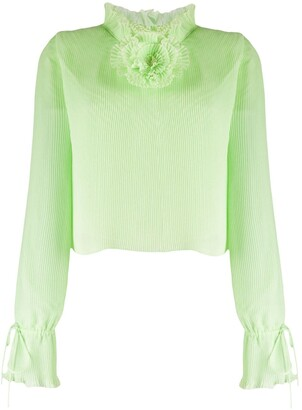 Marco De Vincenzo Pleated Flower Detail Blouse