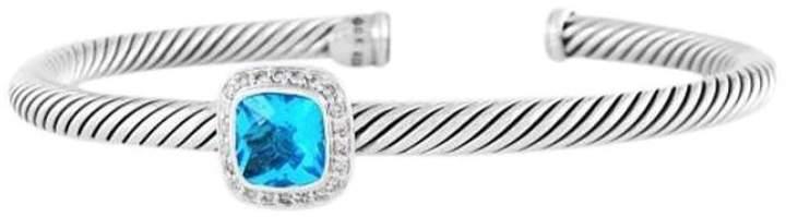 David Yurman Sterling Silver Topaz & Diamond Albion Bracelet