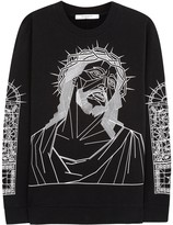 Givenchy Black Jesus-print Cotton Sweatshirt