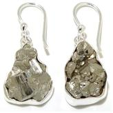 Charles Albert Jewelry Pyrite Nugget Sterling Silver Drop Earrings