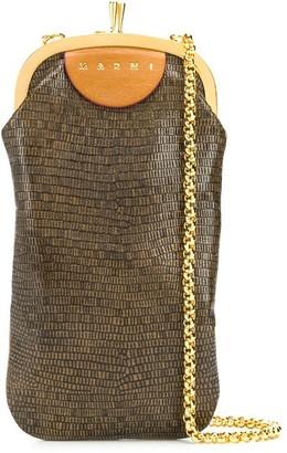 Marni Mini Calf Leather Textured Crossbody Bag