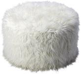 Butler Specialty Company Butler Shepherd White Faux Fur Ottoman