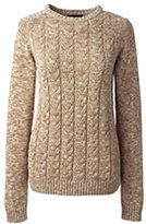 Classic Women's Plus Size Drifter Cable Marl Sweater-Soft Camel Heather Marl