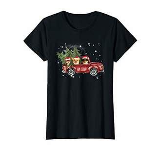 Womens Chihuahua Red Truck Family Matching Christmas Pajamas Gift T-Shirt