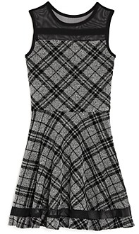 Sally Miller Girls' Emerson Plaid Fit-and-Flare Dress - Big Kid