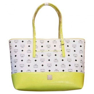 MCM White Leather Handbags