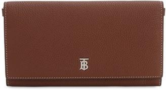 Burberry Ollie Metal Logo Leather Wallet Bag
