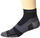 2XU VECTR Ultralight 1/4 Crew Sock (Black/Titanium) Crew Cut Socks Shoes